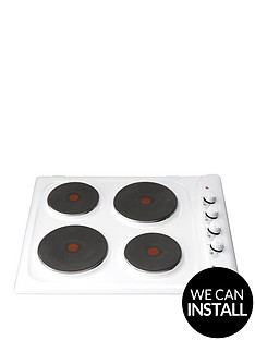 hotpoint-e604w-60cm-built-in-electric-hob-with-optional-installation-white