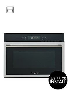 hotpoint-class-6nbspmp676ixh-60cm-built-in-combi-microwave-oven-with-grill-and-optional-installation-blackstainless-steel