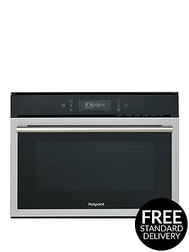 hotpoint-class-6nbspmp676ixh-60cm-built-in-combi-microwave-oven-with-grillnbsp--blackstainless-steel
