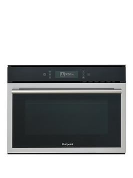 Hotpoint Mp676Ixh 60Cm BuiltIn Combi Microwave Oven With Grill And Optional Installation  BlackStainless Steel  Microwave Only