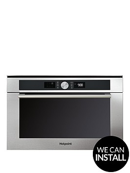 hotpoint-class-4-md454ixh-60cm-built-in-microwave-oven-with-grill-and-optional-installation-stainless-steel