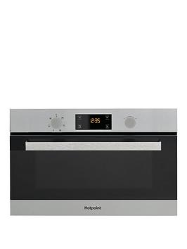 Hotpoint Md344Ixh 60Cm BuiltIn Microwave With Grill And Optional Installation  Stainless Steel  Microwave With Installation