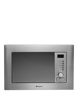Hotpoint Mwh122.1X BuiltIn Microwave Oven With Grill And Optional Installation  Stainless Steel  Microwave With Installation