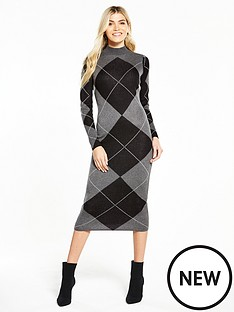 v-by-very-argyle-jacquard-knitted-midi-dress-grey
