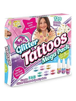 Fab Lab Glitter Tattoos &Amp; Sparkly Nails Mega Pack
