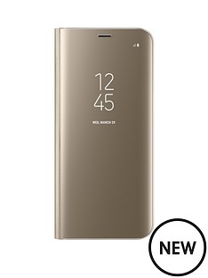 samsung-galaxy-s8-clear-view-stand-cover-case-with-fingerprint-resistant-coating-gold