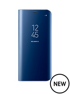 samsung-galaxy-s8-clear-view-stand-cover-case-with-fingerprint-resistant-coatingnbsp--blue