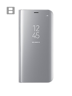 samsung-galaxy-s8-clear-view-stand-cover-case-with-fingerprint-resistant-coatingnbsp--silver