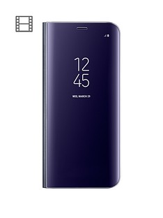 samsung-galaxy-s8-clear-view-stand-cover-case-with-fingerprint-resistant-coating-violet
