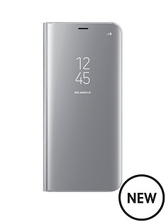 samsung-galaxy-s8-clear-view-stand-cover-case-with-fingerprint-resistant-coating-silver