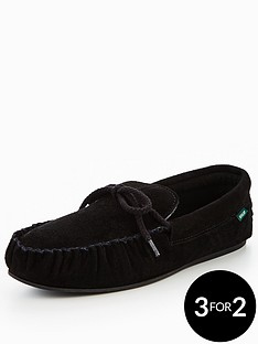 dunlop-moccasin-lace-slipper-black