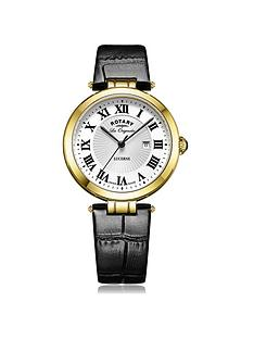 rotary-lucerne-white-dial-roman-numerals-black-leather-strap-ladies-watch