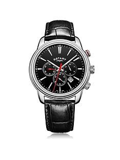 rotary-monaco-black-chronograph-dial-black-leather-strap-mens-watch