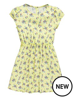 v-by-very-lemon-ditsy-print-dress