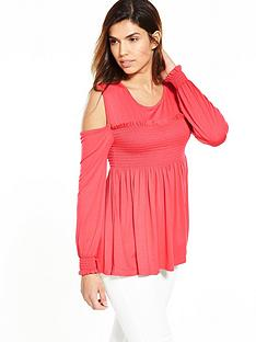 v-by-very-cold-shoulder-sheered-top