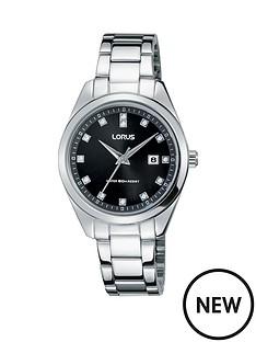lorus-black-dial-stainless-steel-bracelet-ladies-watch