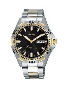 lorus-lorus-grey-multi-dial-rose-tone-case-brown-leather-strap-mens-watch