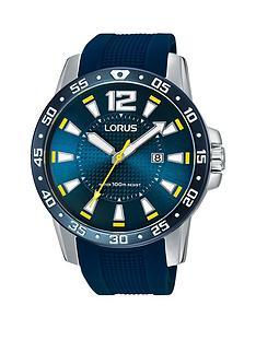lorus-blue-silicone-strap-mens-watch