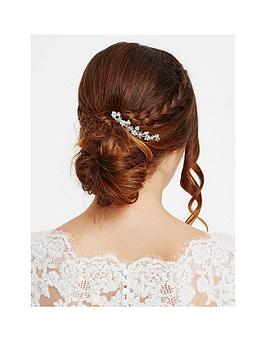 Jon Richard Crystal Embellished Floral Hair Comb