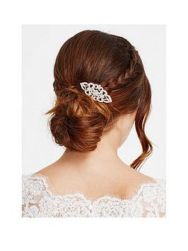 Jon Richard Rose Gold Crystal Daisy Swirl Hair Comb