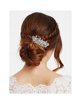 Jon Richard Crystal Flower And Pearl Hair Comb