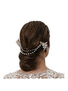 jon-richard-vintage-rose-two-row-drape-comb