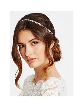 Jon Richard Silver Crystal Navette Hair Ribbon Halo
