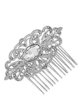Jon Richard Silver Filigree Hair Comb