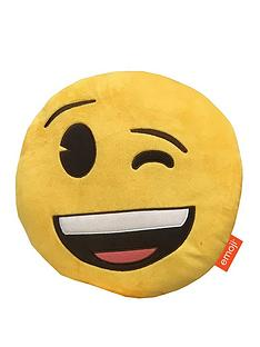 emoji-round-wink-embroidered-plush-cushion