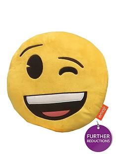emoji-round-wink-embroidered-plush-cushion
