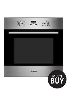 swan-sxb70110ss-60cm-built-in-single-electric-fan-oven-stainless-steel