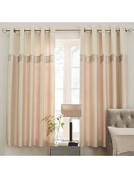 ideal-home-vienna-velvet-panel-geo-66x90-eyelet-curtains