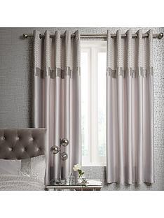 ideal-home-vienna-velvet-panel-geo-eyelet-curtains