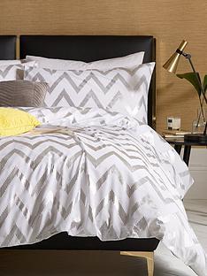 ideal-home-chevron-metallic-duvet-cover-set-db