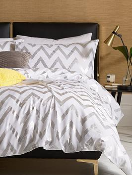 ideal-home-chevron-metallic-duvet-cover-set-sb
