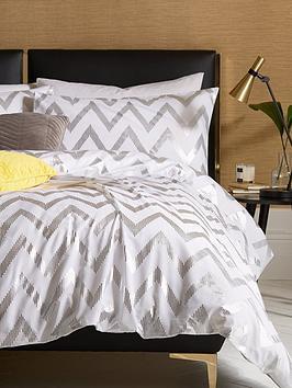 ideal-home-chevron-metallic-duvet-cover-setnbsp