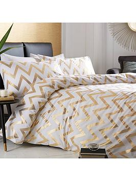 ideal-home-chevron-metallic-duvet-cover-set-ks