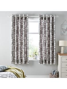ideal-home-modern-leaves-eyelet-curtains