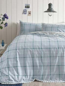 ideal-home-croft-check-cotton-rich-duvet-cover-setnbsp