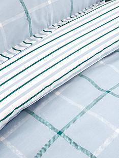 ideal-home-croft-check-cotton-rich-duvet-cover-set