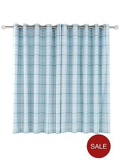 ideal-home-croft-check-curtain-66x72