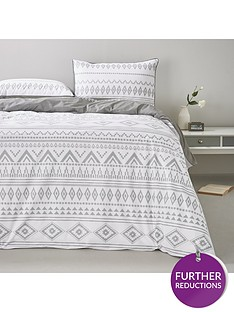 monochrome-aztec-duvet-cover-set