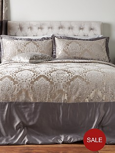 ideal-home-victoria-chenille-damask-bedspread-throw-and-pillow-shams