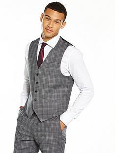 v-by-very-slim-check-waistcoat