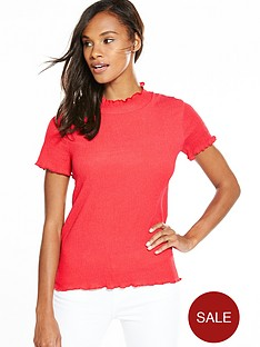 v-by-very-contrast-stitch-textured-top