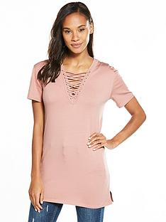 v-by-very-lace-up-t-shirt-tunic-blush