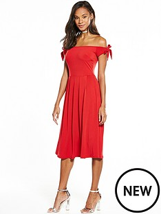 v-by-very-tie-sleeve-midi-dress
