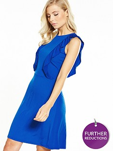 v-by-very-jersey-ruffle-front-short-dress
