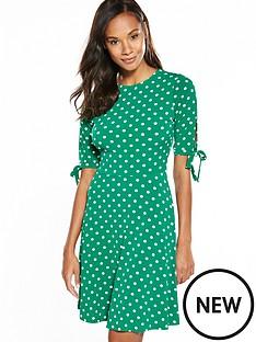 v-by-very-tie-sleeve-short-dress