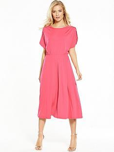 v-by-very-fluted-sleeve-midi-dress